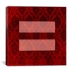 iCanvas Flags Equality Sign, Equal Rights Symbol Graphic Art on Canvas in Burgundy