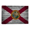 iCanvasArt Florida Flag, Grunge Graphic Art on Canvas