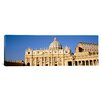 <strong>iCanvasArt</strong> Panoramic St. Peter's Basilica, St. Peter's Square, Vatican City Photographic Print on Canvas