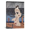 iCanvasArt 'Evening on the Sumida River' by Utagawa Hiroshige Painting Print on Canvas