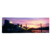 iCanvas Panoramic Illuminated Lampposts on a Pier, San Francisco, California Photographic Print on Canvas