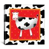 "<strong>iCanvasArt</strong> ""Happy Black and White Cow"" Canvas Wall Art by Antonella Briozzo"