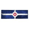 iCanvas Indianapolis Flag, Watercolor Paper with Splatters Panoramic Graphic Art on Canvas
