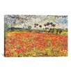 iCanvasArt 'Field of Poppies' by Vincent van Gogh Painting Print on Canvas