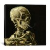 "iCanvasArt ""Head of a Skeleton with a Burning Cigarette"" Canvas Wall Art by Vincent Van Gogh"