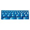 <strong>iCanvasArt</strong> Panoramic Empty Blue Seats in a Stadium, Soldier Field, Chicago, Illinois Photographic Print on Canvas