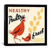 <strong>iCanvasArt</strong> Healthy Poultry-Fresh Eggs Advertising Vintage Poster