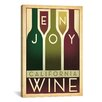 iCanvas 'Enjoy California Wine' by Anderson Design Group Graphic Art on Canvas