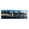 iCanvas Panoramic Fountains at a War Memorial, National World War II Memorial, Washington, D.C Photographic Print on Canvas