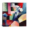 "iCanvas ""Colored Composition of Forms"" Canvas Wall Art by August Macke"