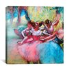 iCanvas 'Four Ballerinas on the Stage' by Edgar Degas Painting Print on Canvas