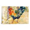 <strong>iCanvasArt</strong> Decorative Art 'Colorful Rooster' by Jan Benz Painting Print on Canvas