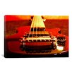 iCanvasArt Electric Guitar Photographic Print on Canvas