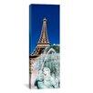 iCanvas Panoramic Fountain Eiffel Tower Las Vegas, Nevada Photographic Print on Canvas