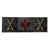 <strong>iCanvasArt</strong> Canada Hockey Sticks Panoramic Graphic Art on Canvas