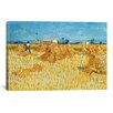 iCanvas 'Harvest in Provence' by Vincent Van Gogh Painting Print on Canvas