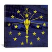 iCanvas Indiana Flag, Indianapolis Motor Speedway with Grunge Graphic Art on Canvas