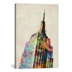 iCanvasArt 'Empire State Building' by Michael Tompsett Graphic Art on Canvas