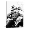 <strong>iCanvasArt</strong> Elvis Presley on His Bike Photographic Print on Canvas
