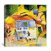 "<strong>iCanvasArt</strong> ""Inner Courtyard of the Country House"" Canvas Wall Art by August Macke"