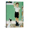 <strong>iCanvasArt</strong> 'He Is Going to Be Taller than Dad' by Norman Rockwell Painting Print on Canvas