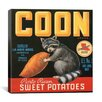 iCanvas Coon Sweet Potatoes Vintage Crate Label Canvas Wall Art