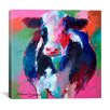iCanvas 'Cow II' by Richard Wallich Graphic Art on Canvas