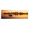 iCanvasArt Panoramic Ferry Moving in the Sea, Boston Harbor, Boston, Massachusetts Photographic Print on Canvas