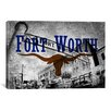 <strong>iCanvasArt</strong> Fort Worth, Texas Flag - Original PaiStock Yards Graphic Art on Canvas