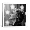 <strong>iCanvasArt</strong> Hillary Clinton Quote Canvas Wall Art