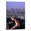 iCanvas Panoramic Hollywood Freeway Los Angeles, California Photographic Print on Canvas
