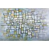 iCanvas 'Composition in Blue, Gray, and Pink' by Piet Mondrian Painting Print on Canvas