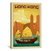 iCanvas 'Hong Kong' by Anderson Design Group Vintage Advertisement on Canvas