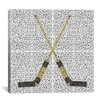 iCanvas Canada Hockey Sticks Graphic Art on Canvas
