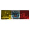<strong>iCanvasArt</strong> Columbus Flag, Columbus Skyline Panoramic Graphic Art on Canvas