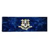 iCanvasArt Connecticut Flag, Downtown Hartford, Skyline Panoramic Graphic Art on Canvas