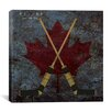 <strong>iCanvasArt</strong> Canada Hockey Sticks #4 Graphic Art on Canvas