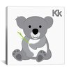 iCanvasArt Kids Children K is for Koala Graphic Canvas Wall Art