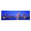 <strong>iCanvasArt</strong> Dusk, Miami Florida Photographic Print on Canvas