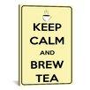 iCanvas Keep Calm and Brew Tea Textual Art on Canvas
