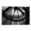 iCanvasArt Photography Clock Tower in Paris Photographic Print on Canvas