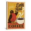 <strong>iCanvasArt</strong> Early Bird Coffee by Anderson Design Group Vintage Advertisement on Canvas