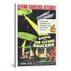 <strong>iCanvasArt</strong> 'Earth Vs. The Flying Saucers Movie' by Anderson Design Group Vintage Advertisement on Canvas