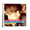 iCanvas Justin Bieber Quote Canvas Wall Art