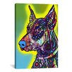 <strong>'Doberman' by Dean Russo Graphic Art on Canvas</strong> by iCanvasArt