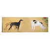 iCanvasArt Japanese Art 'Dogs from Europe' by Hashimoto Kansetsu Graphic Art on Canvas