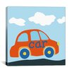 "iCanvasArt Decorative Art ""Red Car"" Canvas Wall Art"