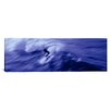 <strong>iCanvasArt</strong> Panoramic High Angle View of a Person Surfing in the Sea Photographic Print on Canvas