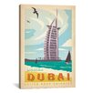 iCanvasArt 'Dubai, United Arab Emirates' by Anderson Design Group Vintage Advertisement on Canvas