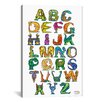 iCanvasArt Dinosaur Alphabet by David Russo Graphic Art on Canvas